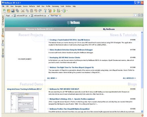 Netbeans IDE 6.0.1 Window