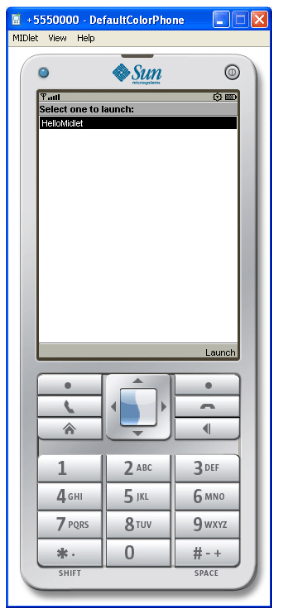 DefaultColorPhone Emulator window