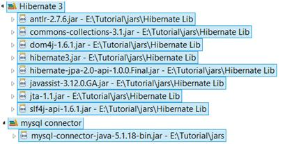 Required jar files to run this example