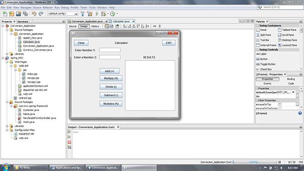 Desktop based Application - Calculator