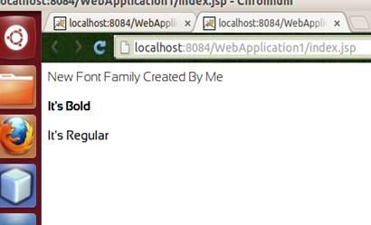 Font usage