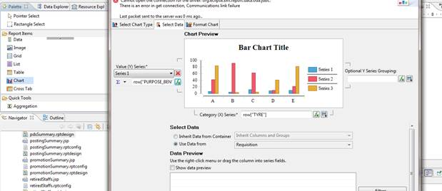 This is the screen shot of Bar chart.