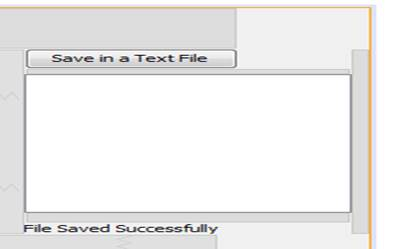 To save all of the data in a file received from client side in a separate text file, a click on save button opens a save-dialogue box and the text is saved in the respective text-file successfully.