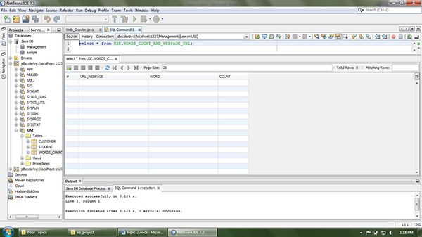 Application and Data present in the Database