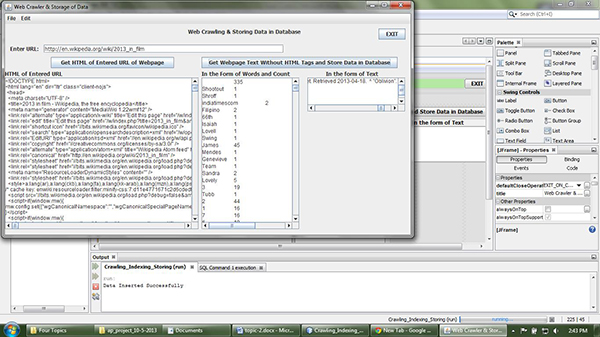 How to create a Web Crawler and storing data using Java