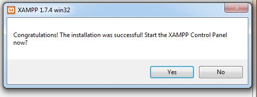 Xampp is ready to use
