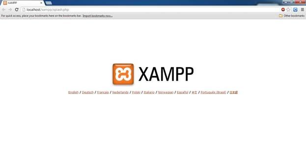 localhost of XAMPP