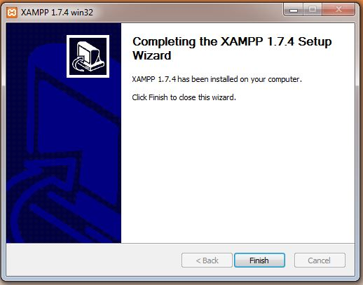 Completing XAMPP Installation
