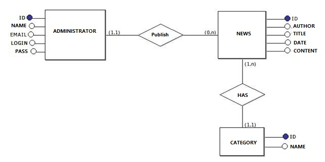 PortalNews logic model