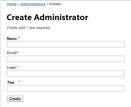 Form of Administrator Registration.