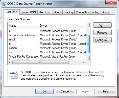 Add data source window