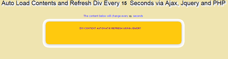 How to Refresh Div Content Using jQuery