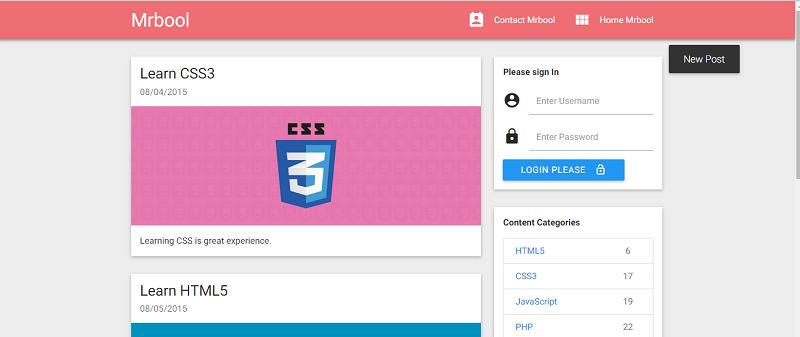 Google Materialize Responsive HTML Framework