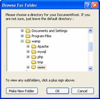 Showing installation folder