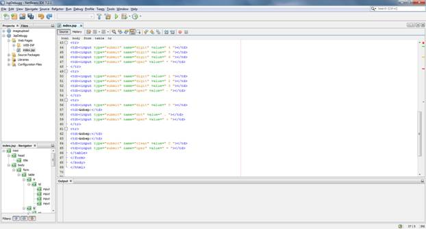 Showing code in the IDE window
