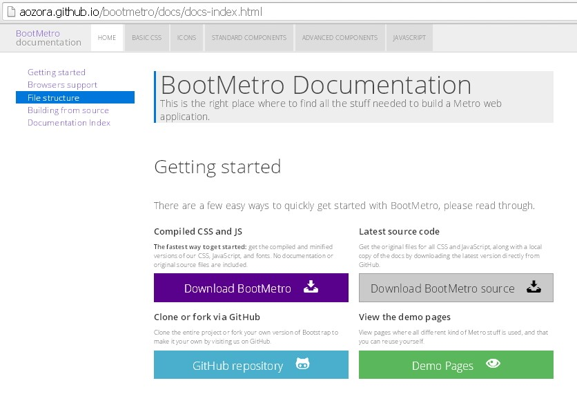Bootmetro download page.