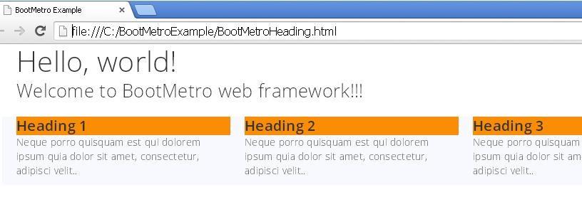 BootMetroHeadingExample.