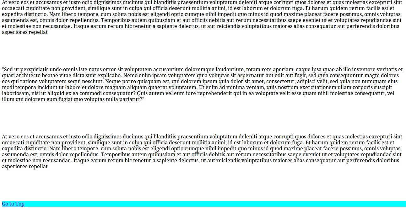Scrolling HTML Page Example 2