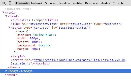 CSS of index.html