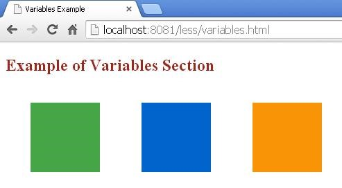Output of variables.html