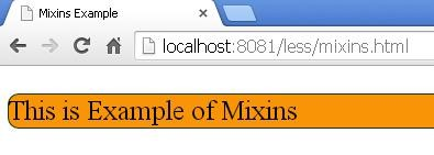 Output of mixins.html