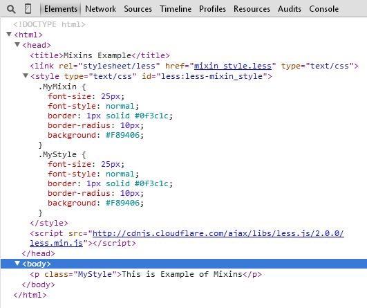 CSS of mixins.html