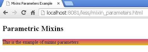 Output of mixin_parameters.html