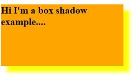 Example for box shadow