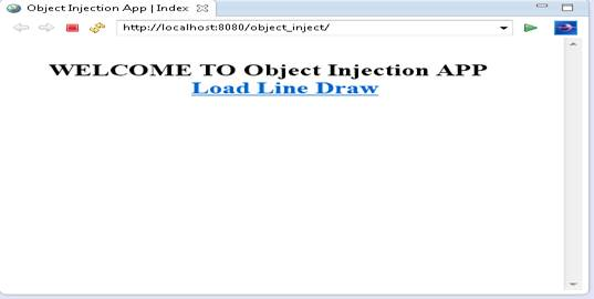 loads index.jsp page, one an application has been deployed and loaded