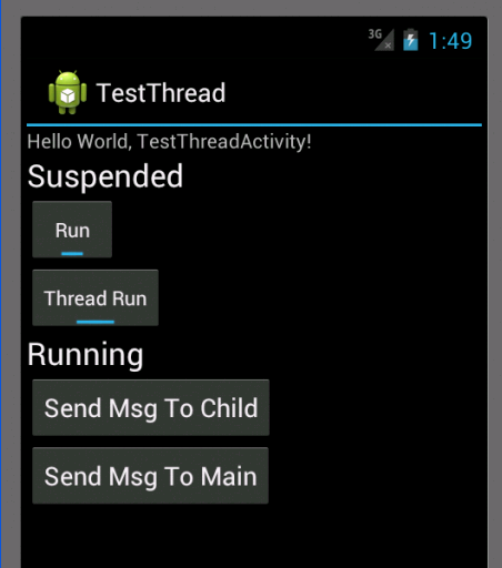 Re-running thread message