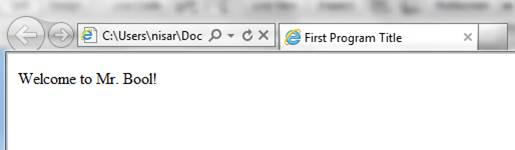 Heading in HTML