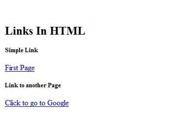 Links in HTML