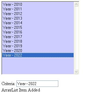 Add Item - Year - 2022
