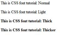 figure is output of CSS font variant script
