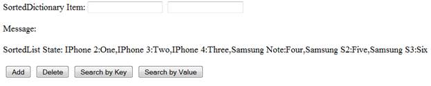 Initial UI and SortedDictionary with Smart Phone Data