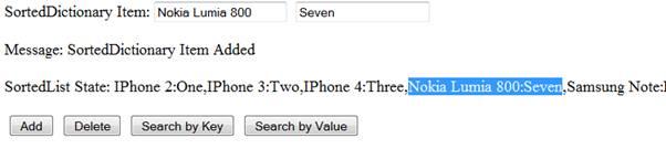 Add Item - A Key, Value Pair Added