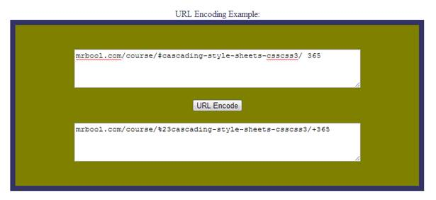 Above figure is output of simple script of URL Encoding