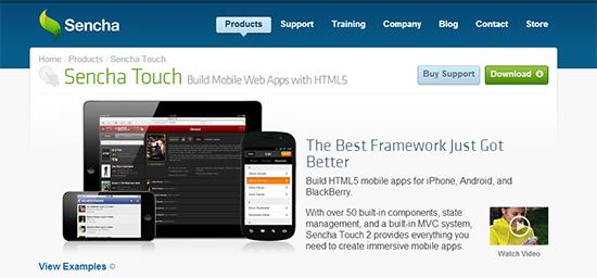Sencha Touch Framework