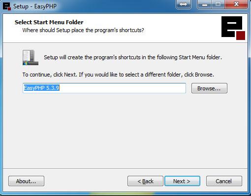 Defining the folder name
