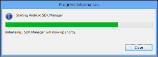 The Progress Information Dialog box