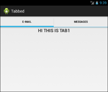 Creating Tabs in Android