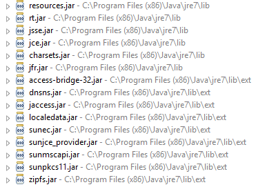 Set of RequiredSpring jar files