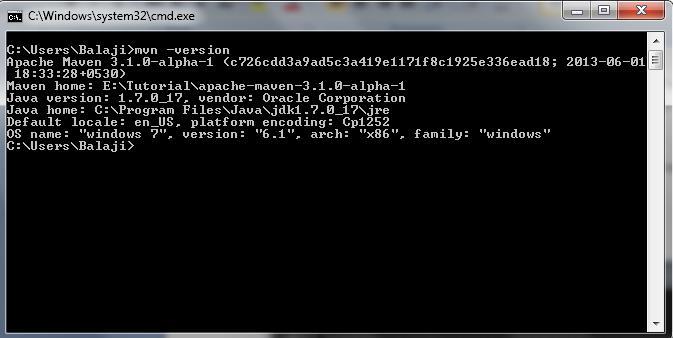 Check Maven Configuration Status