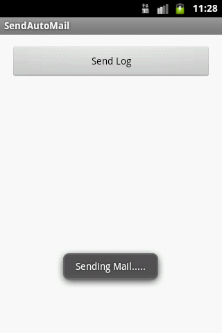 Above image showing the process of sending mail using Toast