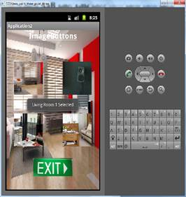 ImageButton Btn_living_room1 clicked and toast displayed.