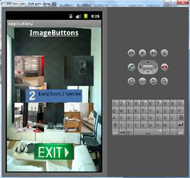 ImageButton Btn_living_room2 clicked and custom toast is displayed.