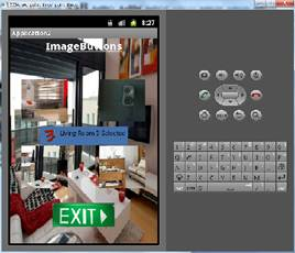 ImageButton Btn_living_room3 clicked and custom toast is displayed.