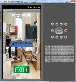 ImageButton Btn_living_room4 clicked and custom toast is displayed.