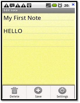 Notepad in Android Device