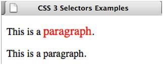 CSS 3 Selectors Examples